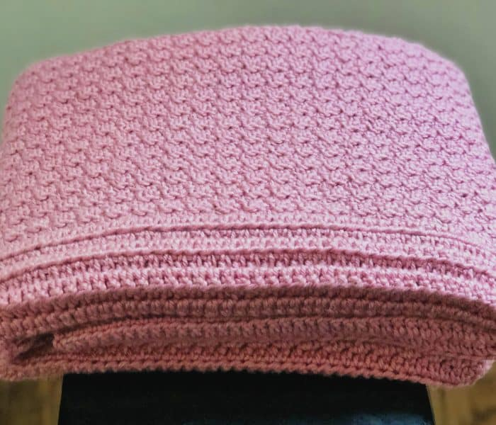 Raspberry Ridges Free Crochet Blanket Pattern