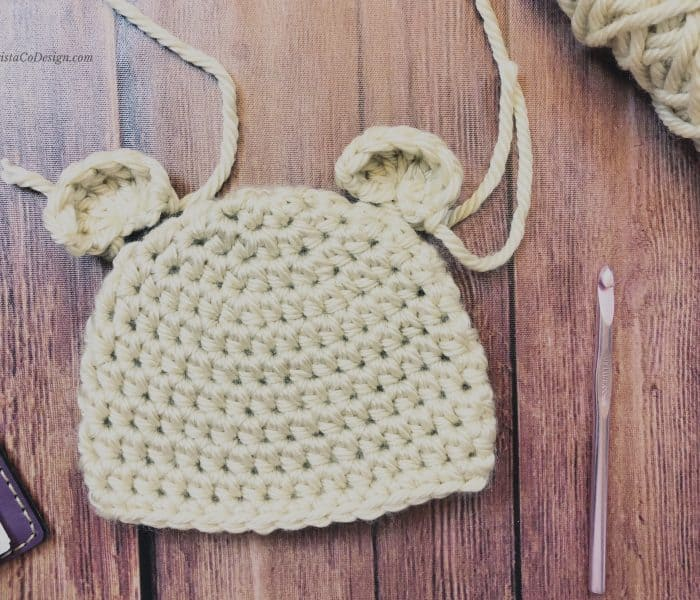 Crochet Bear Ears for Beanie Photo Tutorial