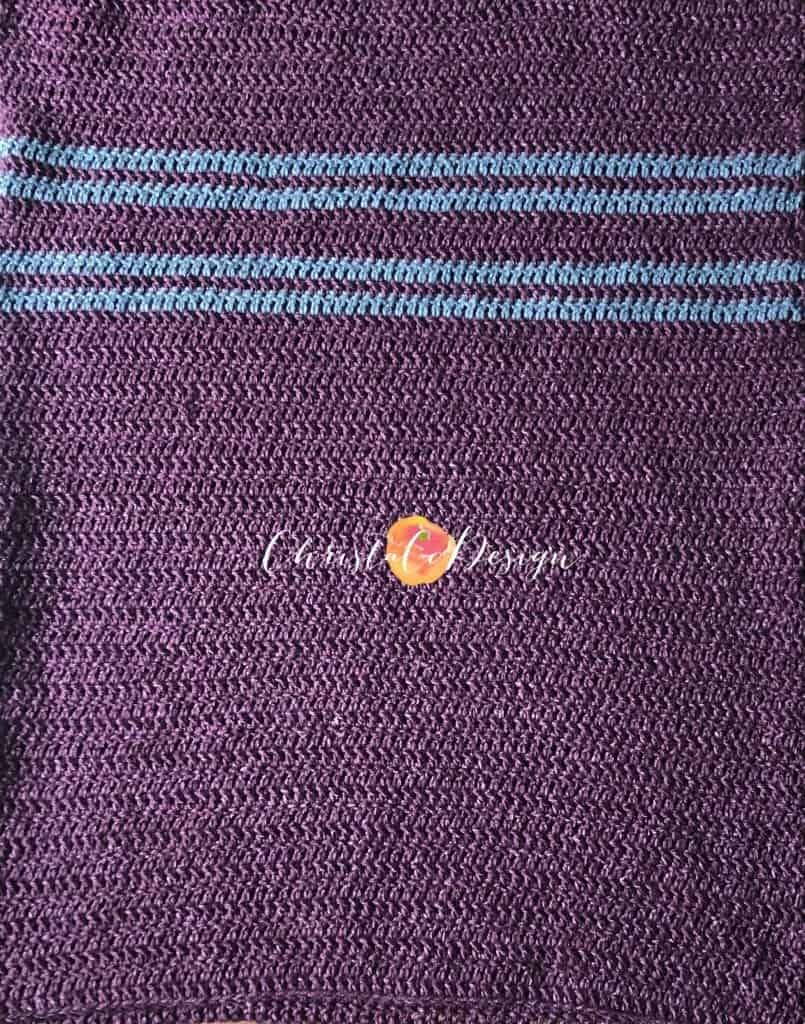picture of men's maroon sweater with grey stripes