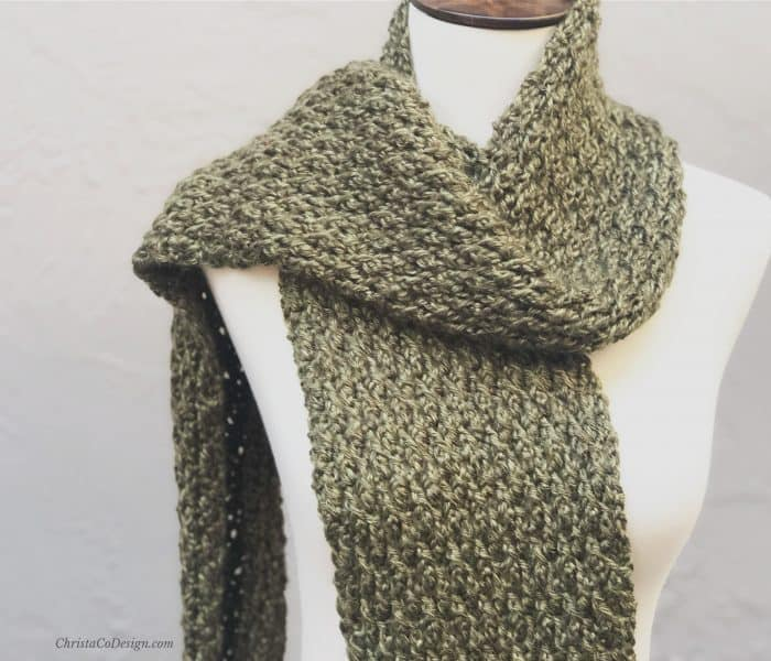 Matteo Textured Crochet Scarf a Free Pattern