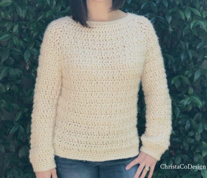 Nebbia Chunky Crochet Sweater Free Pattern