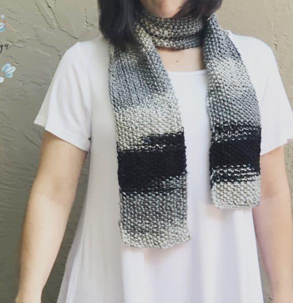 Seed Stitch Scarf a Free Knitting Pattern