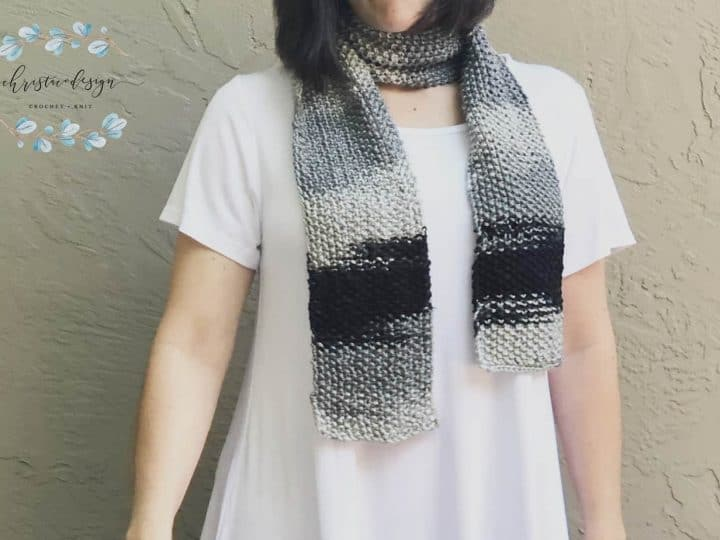 picture of seed stitch scarf free knitting pattern easy