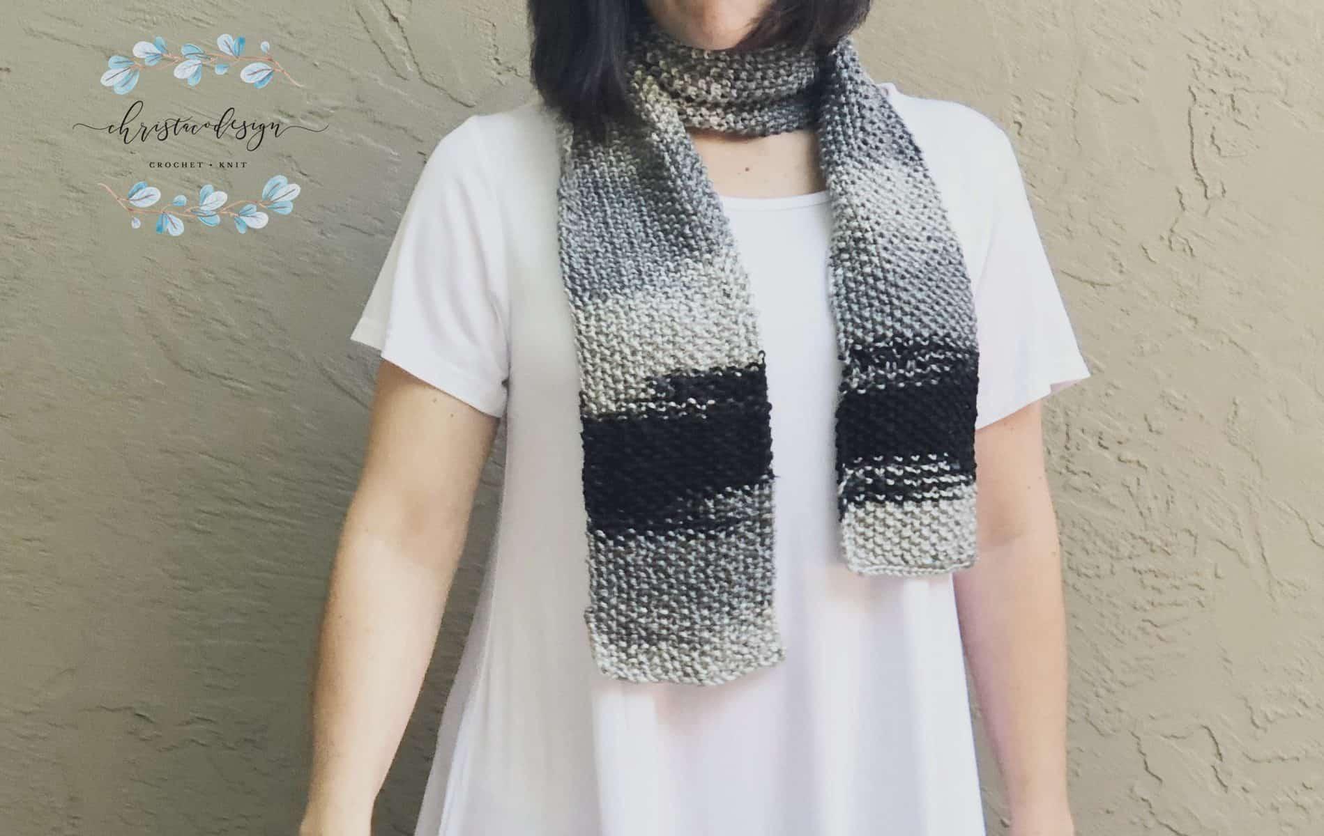 Seed Stitch Textured Knit Scarf a Free Knitting Pattern
