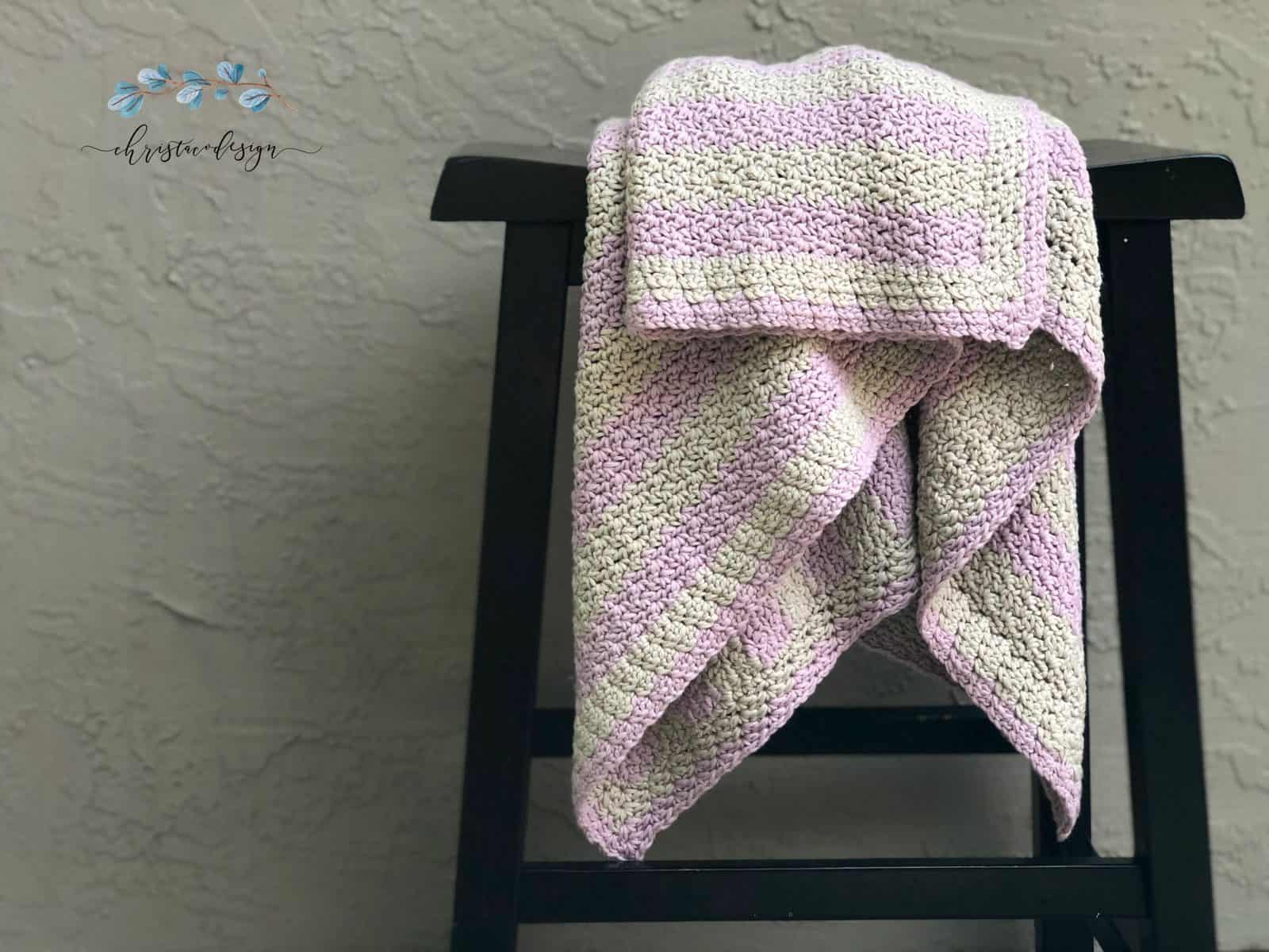 Eileen Crochet Cotton Blanket Free Pattern