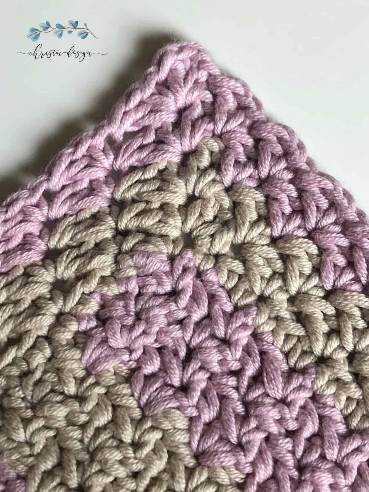 Eileen baby blanket corner of wattle stitches.