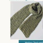 Men's crochet scarf laid flat.