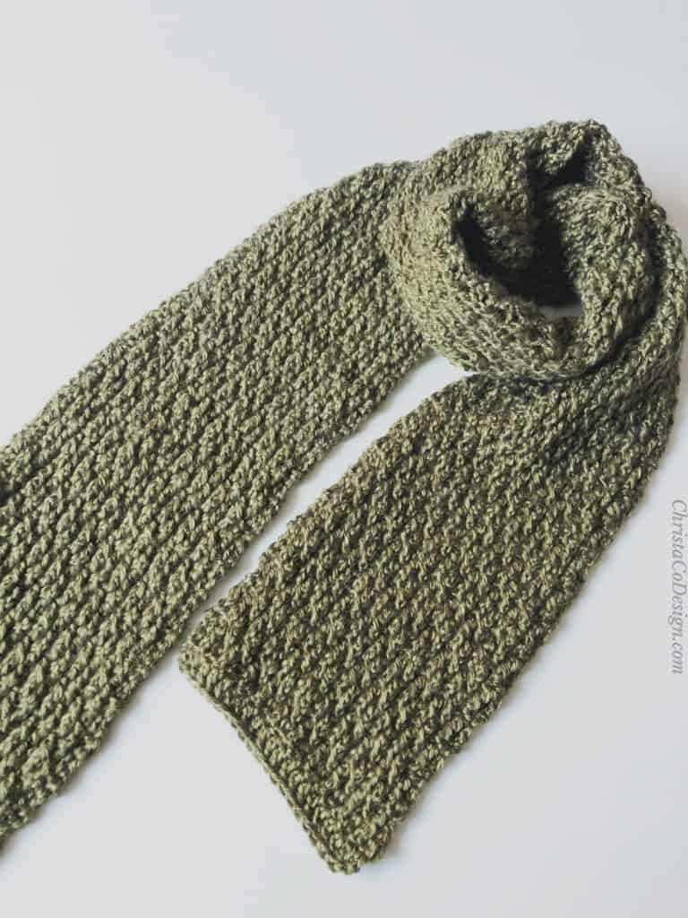 picture of men's crochet scarf free pattern