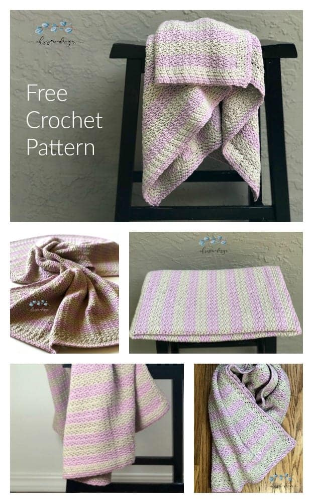 picture with text crochet cotton blanket free pattern