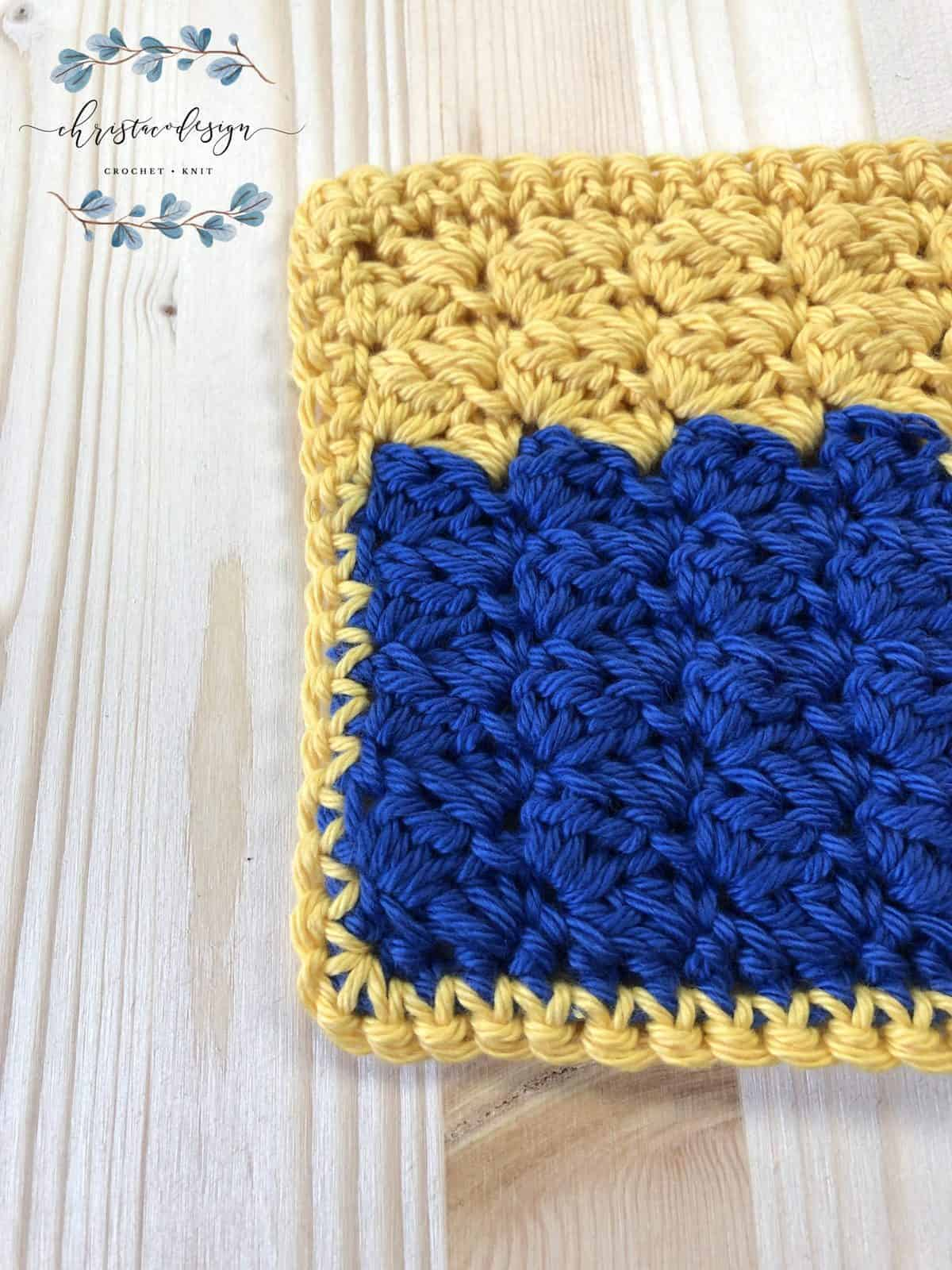 Square washcloth crochet