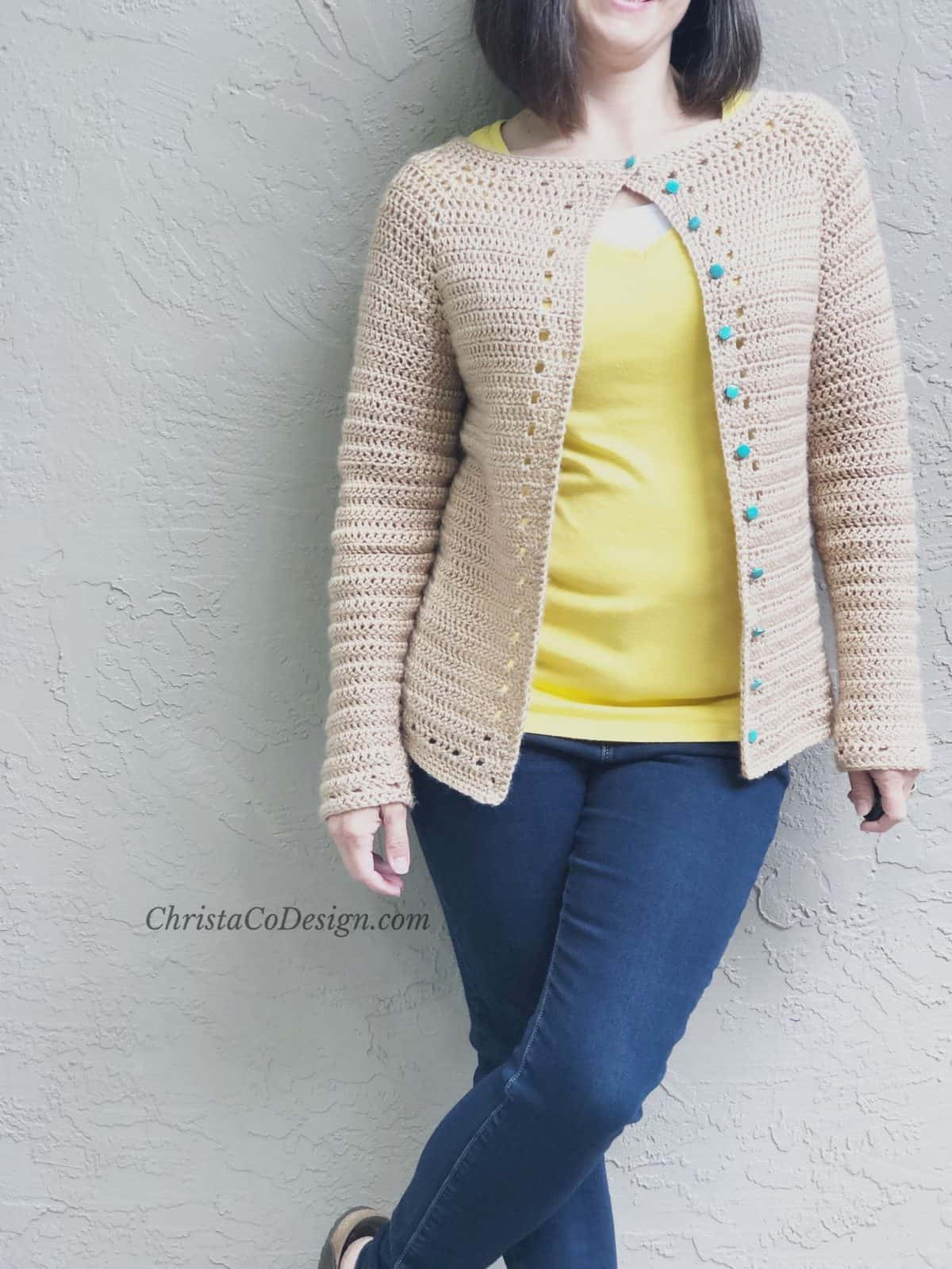 The Spring Cardi-a Free Crochet Cardigan Pattern