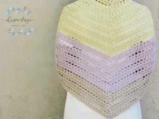 Lilla triangle shawl back.