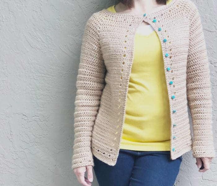 Spring Cardi-a Top Down Crochet Cardigan Pattern