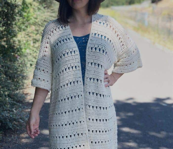 Mid Summer Cardigan Crochet Pattern