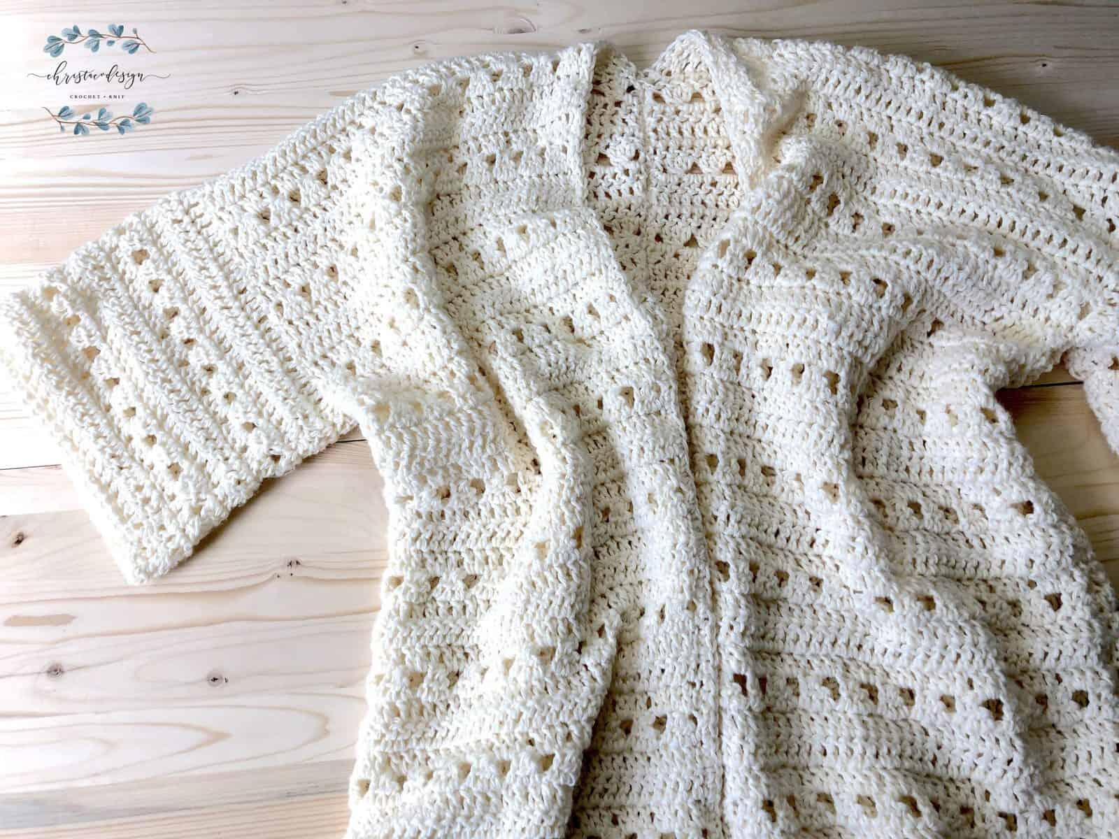 Picture of midsummer crochet cardigan flat