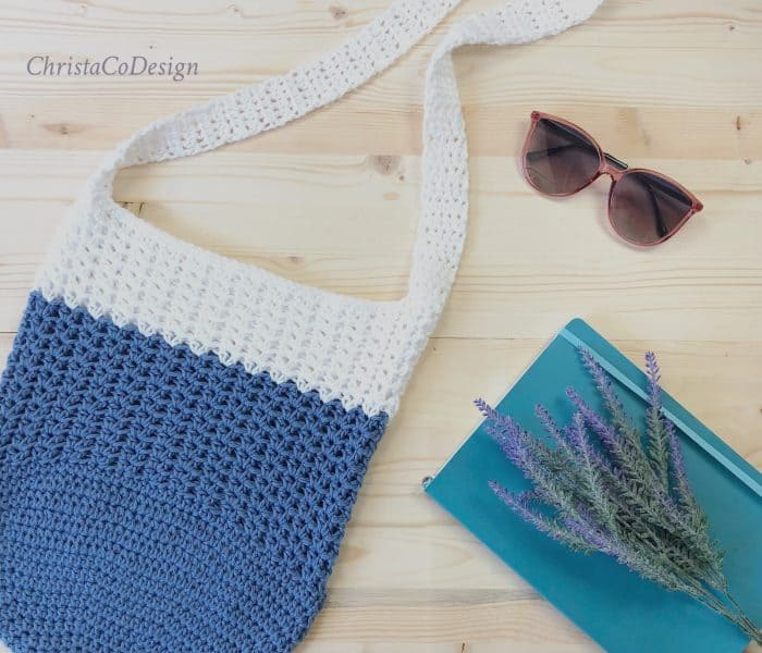 Mercato Crochet Crossbody Shoulder Bag Free Pattern