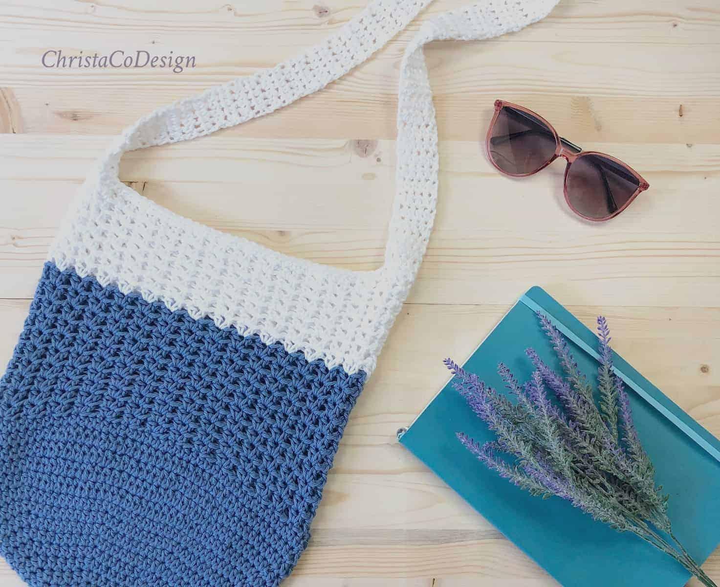Mercato Crossbody Tote a Free Crochet Pattern