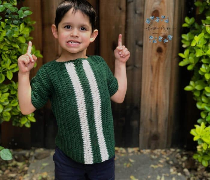 Crochet Kids Racing T-Shirt a Free Crochet Pattern