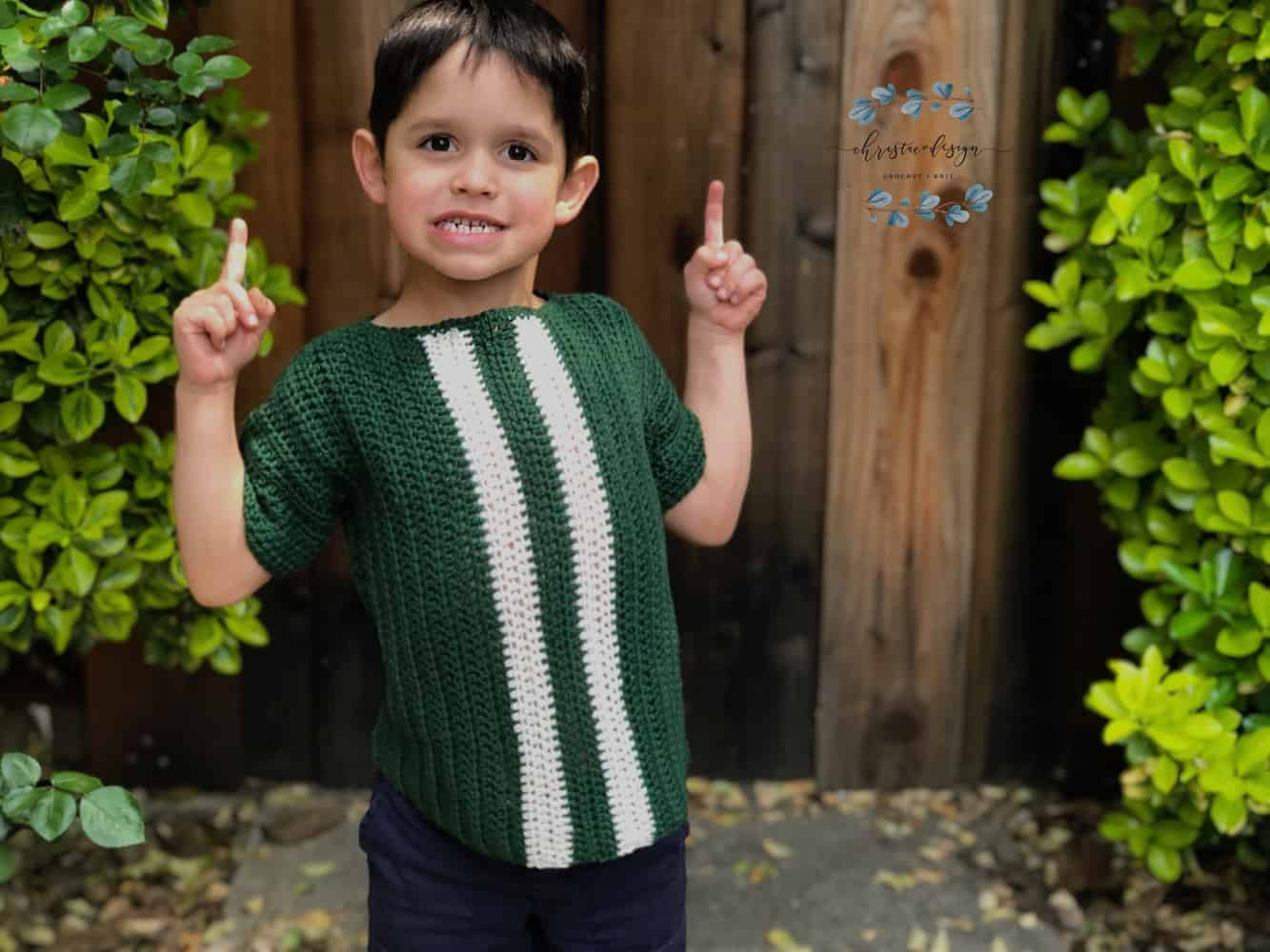 Crochet Kids Racing T-Shirt a Free Crochet Pattern