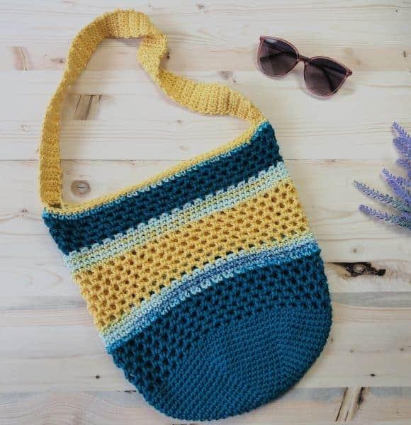 Coastal Sun Crochet Beach Tote Bag a Free Pattern