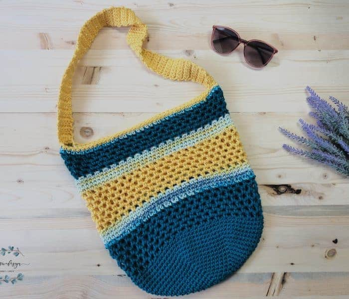 Coastal Sun Crochet Beach Tote Bag a Free Pattern