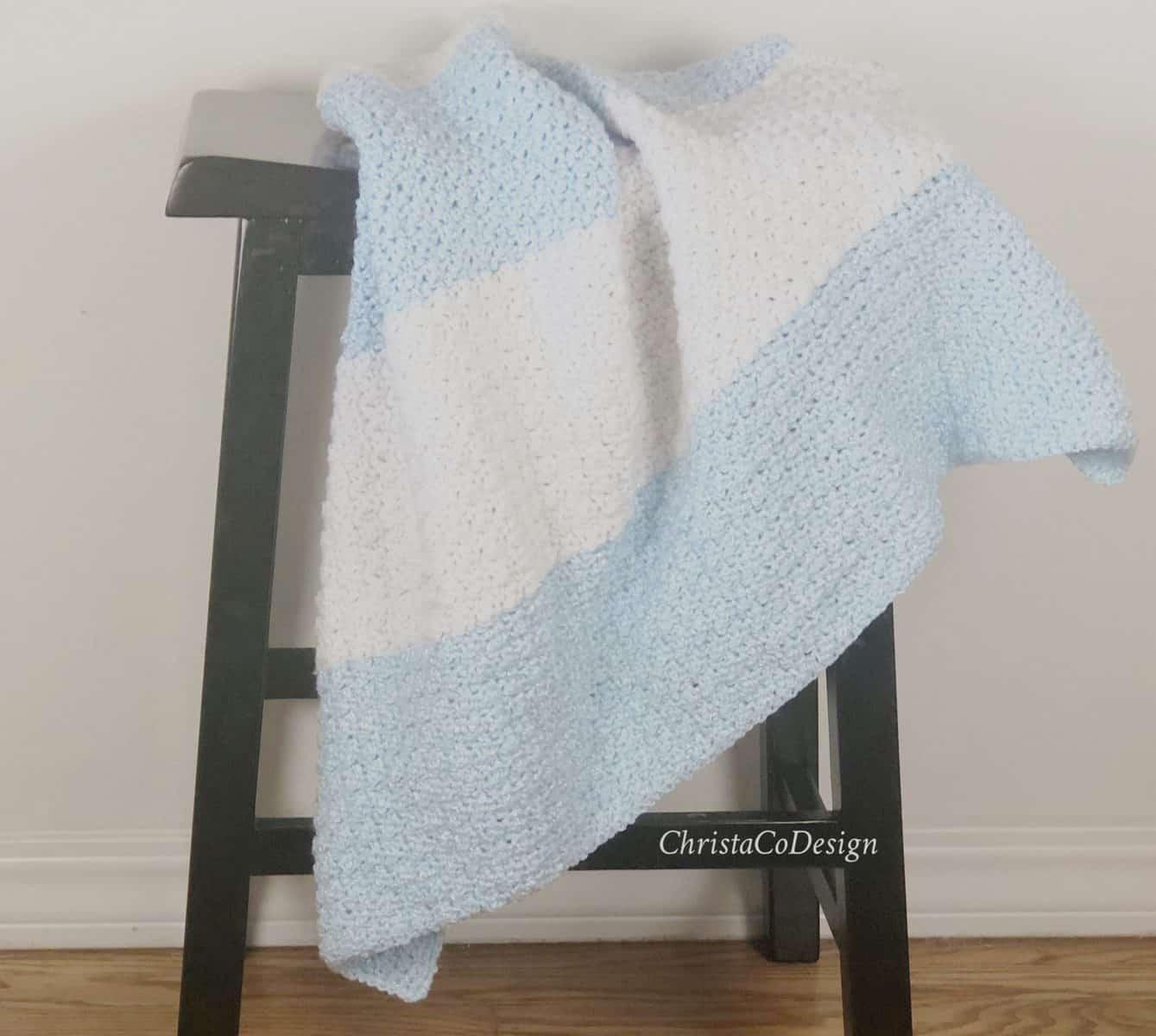 Modern Crochet Striped Blanket A Free Pattern