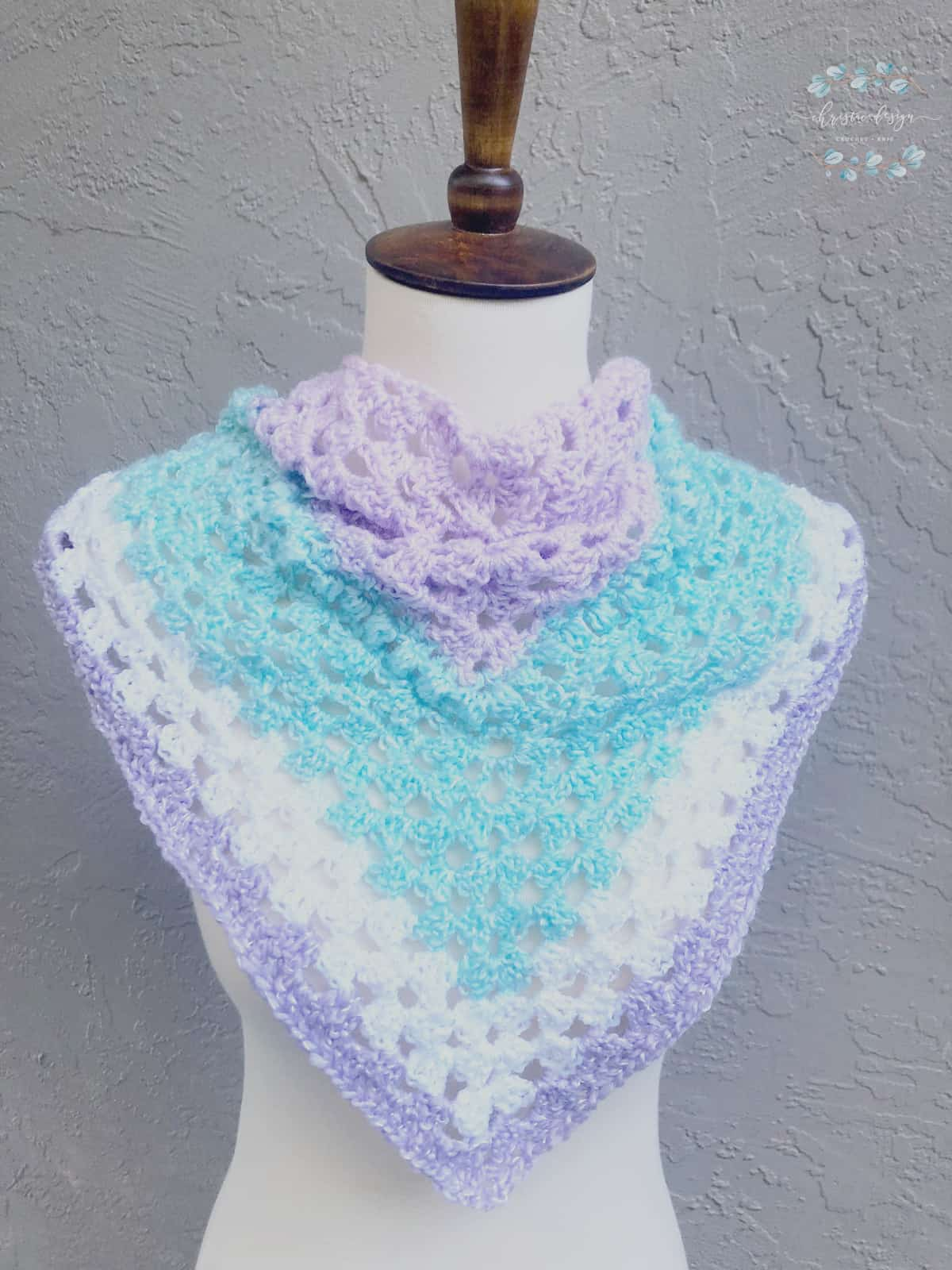 picture of Ambra Triangle Scarf on bust