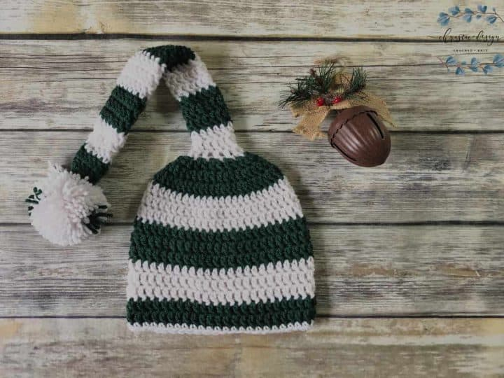 picture of Long tail crochet hat