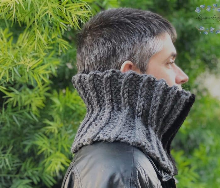 Men's Crochet Cowl Granite Cowl a Free Crochet Pattern