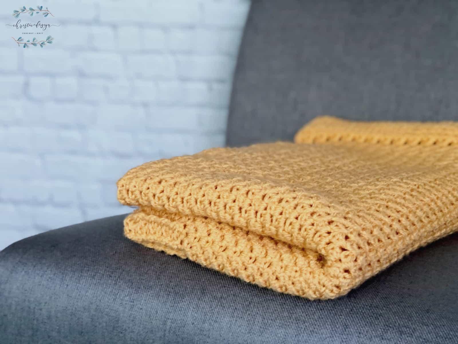 picture of crochet blanket folded
