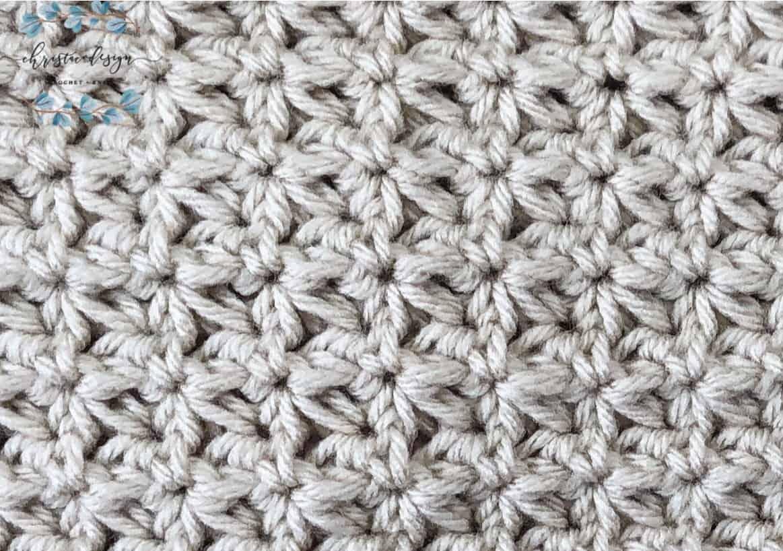 picture of beige trinity stitch crochet swatch