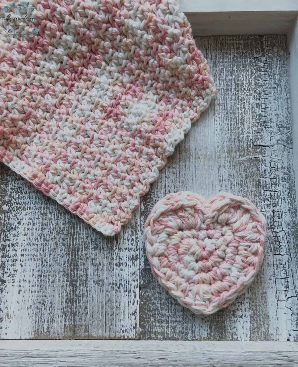 Picture of Crochet Heart and washcloth