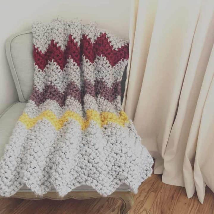 picture of chunky Chevron blanket