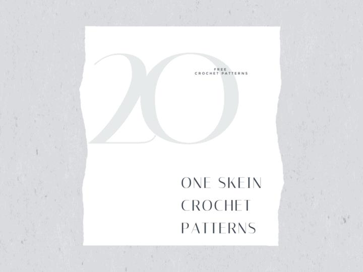20 one skein patterns