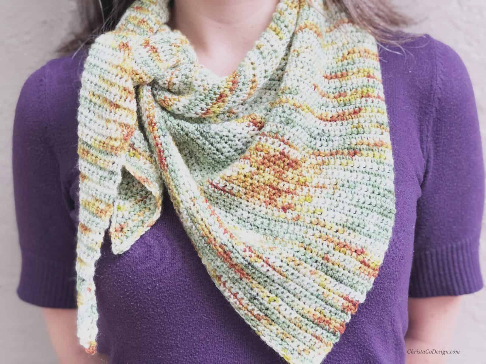 Picture of songle crochet scarf up close