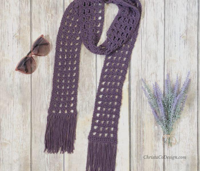 Berryessa Scarf a Free Crochet Pattern