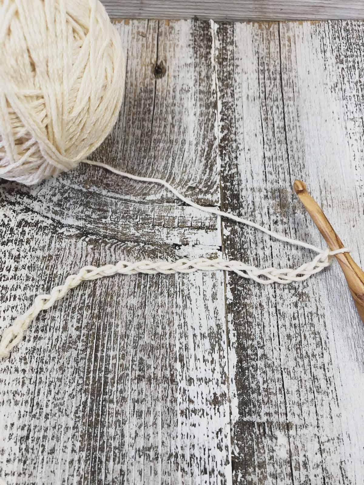 Crochet chain of 20.