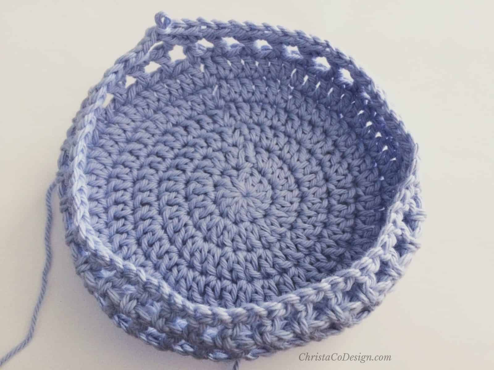 picture of mesh crochet sun hat