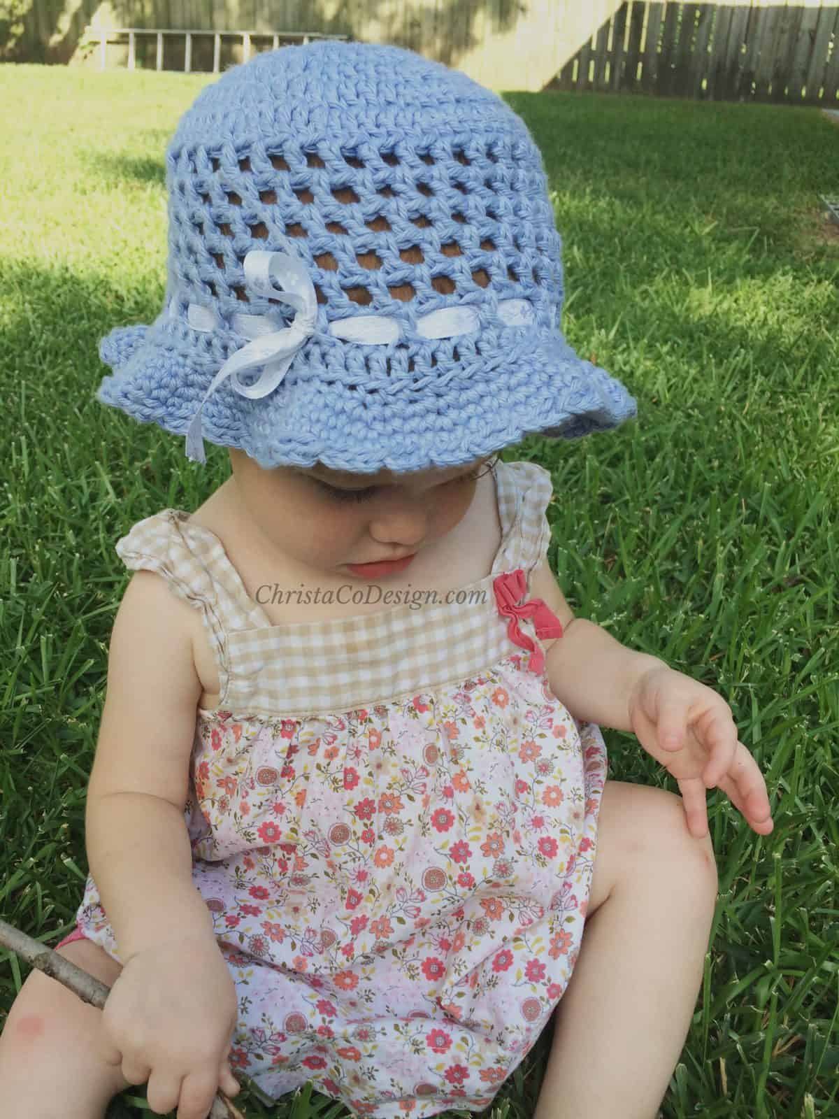 Crochet Toddler Sun Hat Photo Tutorial Christacodesign
