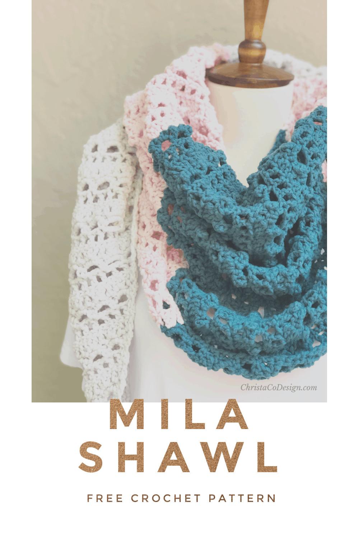 color block shawl pin image text
