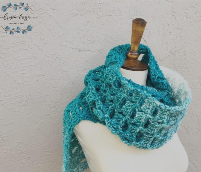 Alza Crochet Scarf a Free + Easy Crochet Pattern