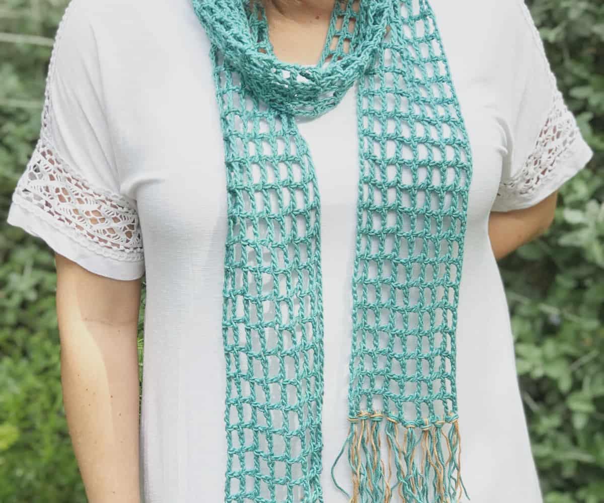 Skinny Summer Scarf Free Crochet Pattern