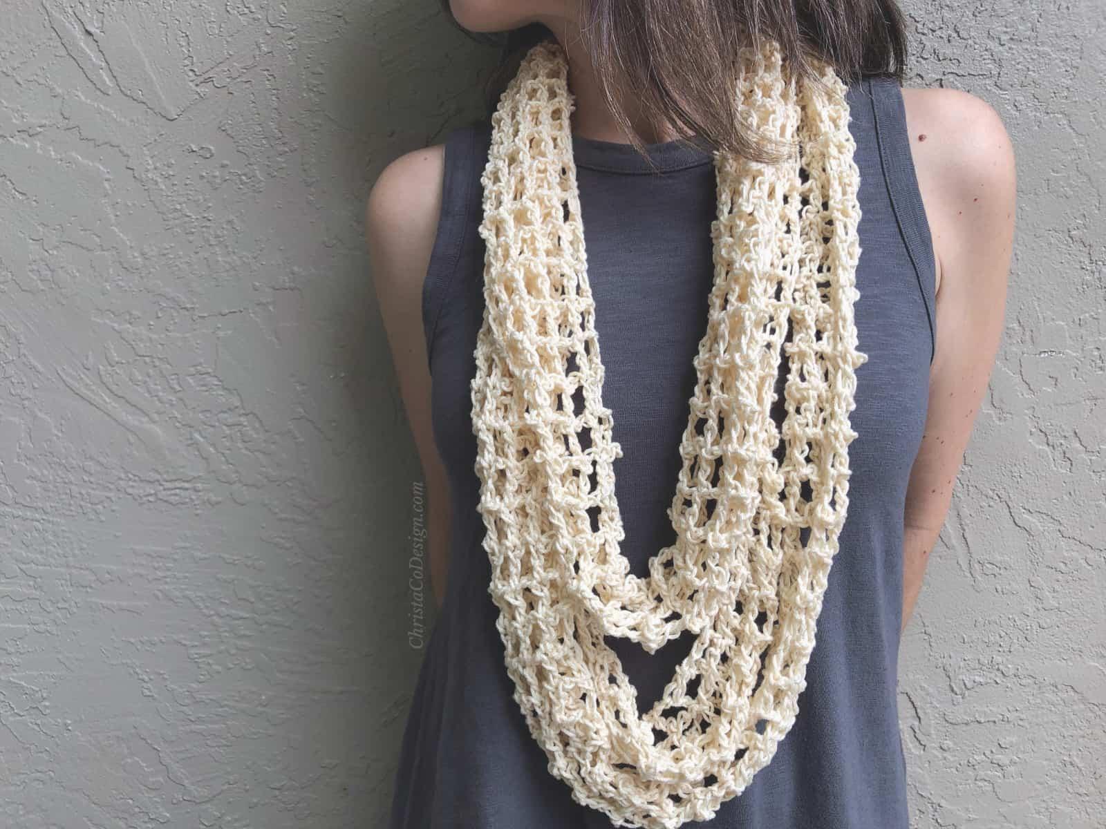 Retta Crochet Infinity Cowl One Skein Pattern