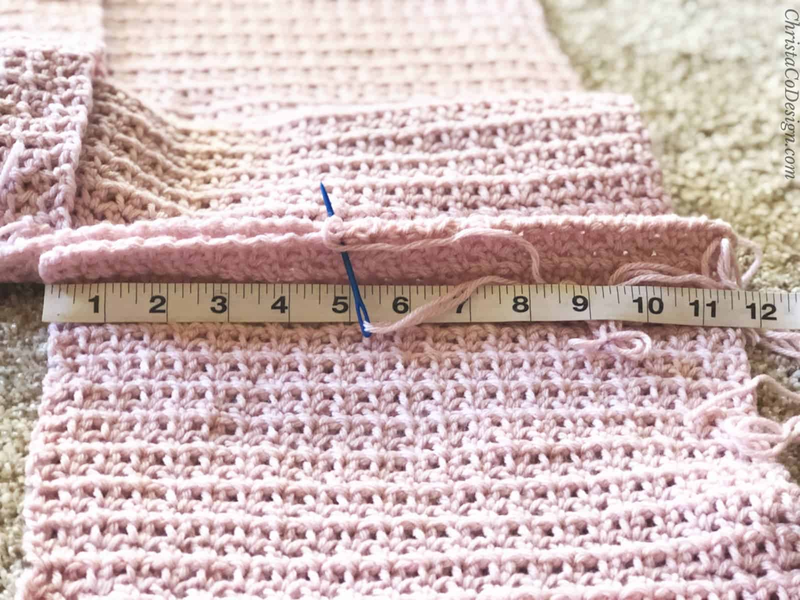 Seaming front to back panel.
