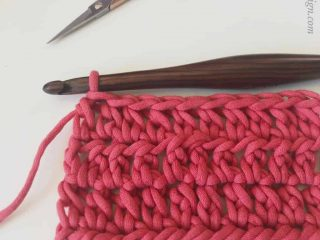 picture of crochet ehdc swatch