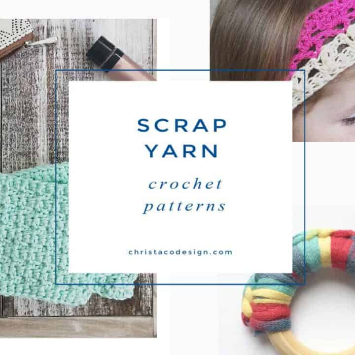 picture with text scrap yarn crochet patterns