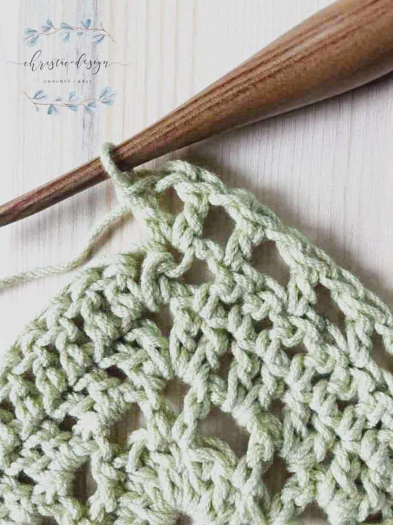 V-stitch in center tip of shawl.