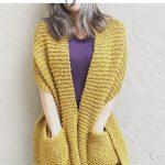 picture of mustard pocket shawl knitting pattern free