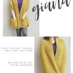 picture of knitting pattern beginner friendly pocket shawl