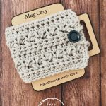 pin image with text free mug cozy crochet pattern